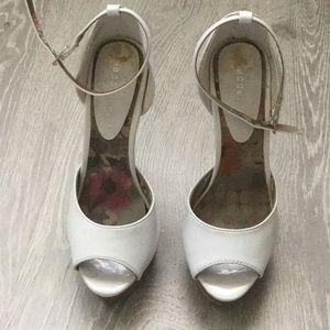 Madden Girl Shoes - Hi madden girl white ankle strap heels